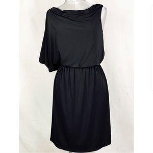 JESSICA SIMPSON black asymmetrical keyhole dress